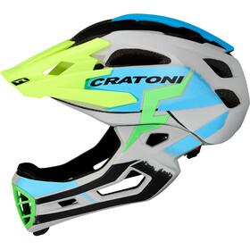 Cratoni C-Maniac Pro Casco MTB, gris/azul
